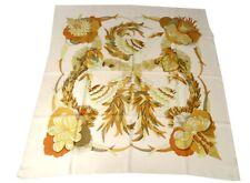 Carré soie foulard Hermès Paris Tahiti oiseaux 90cm Vintage C. Latham XXè