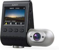AUKEY Dual Dash Cam Uber 3 in 1 FHD 1080p IR Night Vision Car Camera 170 Degrees