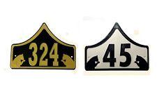 Cat House Door Number Plaque -Garden Gate Cat Sign (0 to 999)