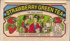 Strawberry Green Tea - 25 Bags - Decorative Wooden Box