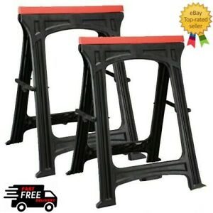 1 Pair (2) Plastic trestles Saw Horse Stands CT1699