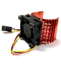 540 550 560 RC EP Electric Motor Heatsink with 6v Fan Red 1/10 Scale Top JST
