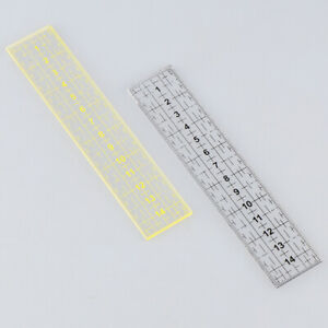 15*3cm Quilting Ruler Measuring Tool Patchwork Foot Sewing Aligned RulerB_cd