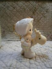 Precious Moments Ornament Babys 1st First Christmas 1994 Girl w/ Stick Deer