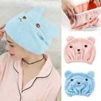 Microfiber Hair Turban Quickly Dry Hair Hat Wrapped Towel Bathing Cap-