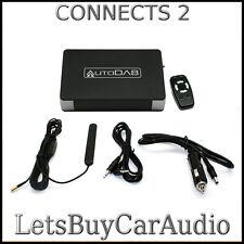 AUTODAB FM WIRELESS ADD-ON DAB RADIO WITH RF REMOTE CONTROL & GLASS MOUNT AERIAL
