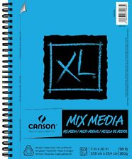 Canson Papel Canson XL espiral multimedia Cojín de papel de 7 Pulgadas x 10 Pulgadas, 60 Hojas