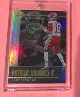 Patrick Mahomes PANINI ILLUSIONS HOLOFOIL REFRACTOR FINISH CHIEFS CARD #52 Mint!