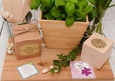 Personalised Ecocube Message Plant Gift, Mother's Day, Birthday, Gift Boxed