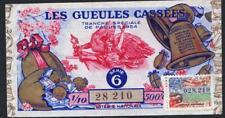 BILLET ANCIEN DE  LA LOTERIE NATIONALE  ANNÉE 1954  pâques