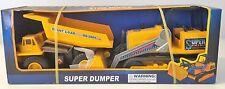 NEW STEEL RODER SUPER DUMPER SET WITH GIANT DUMP TRUCK AND FRONT LOADER 39551