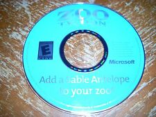 Add A Sable Antelope For Zoo Tycoon PC CD-ROM Microsoft 2001 Expansion Add-On