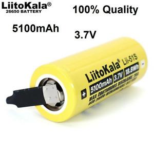 Liitokala 26650 Power Supply 5100mah 3.7V Rechargeable Battery +DIY Nickel Sheet
