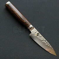 Shun Premier Paring knife 4 inch. 100mm tsuchime Damascus KAI MADE IN JAPAN