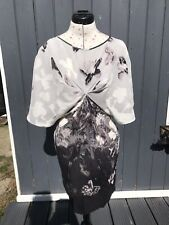 WAREHOUSE 100% Silk Bat Sleeve Dress. Size 10.