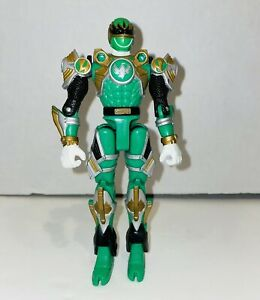 2002 Power Rangers Ninja Storm GReen Samurai Turbo Tri-Battlized Figure EX Cond