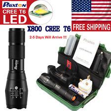 9000LM ZOOM SHADOWHAWK XML T6 LED Flashlight 4000mAh 18650 Genuine Battery US