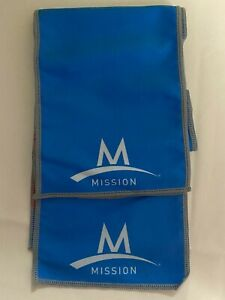 "Mission Enduracool Instant Cooling Towel  6"" x 40""  BLUE~Lot of 2"