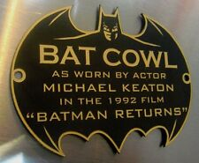 CUSTOM BATMAN RETURNS COWL PROP DISPLAY PLACARD SIGN PLATE