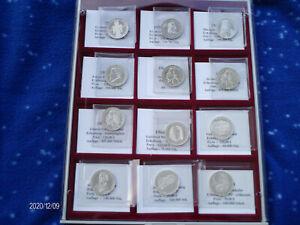 46 x 5 DM Gedenkmünzen Sammlung in VZ / Stgl. - PP