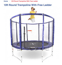 Web and Warehouse 10ft Round Trampoline with Enclosure and Ladder