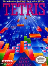 "Nintendo Nes TETRIS  Box Cover Photo Poster 8.5""x11"" Game Decor"