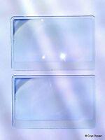 2 Stück Fresnel Linsen, 8 x 4,5 cm, Linse, Lupe, aus Plastik, Lens, 3fach Zoom