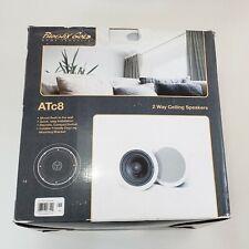 """Phoenix Gold ATc8 2 Way Ceiling Speaker Pair 8"""" White 8 ohm 150 Watts New"""