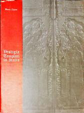 VESTIGIA TEMPLARI IN ITALIA  - BIANCA CAPONE - ED TEMPLARI 1979