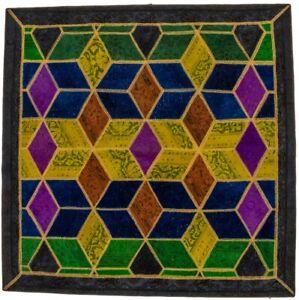 Colorful Modern Geometric Design Square 8X8 Patchwork Contemporary Rug Carpet