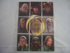 Lord of the Rings Return of the King Update U1-U9 Trading Cards Set