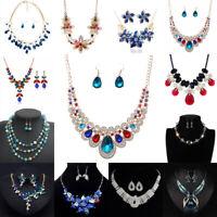 Women Chunky Fashion Crystal Rhinestone Collar Choker Pendant Statement Necklace