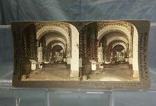 Antique Keystone Stereoview Card #V21932 La Compania Church Quito Ecuador
