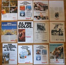 IBERIA 12x 1960s/80s spanish ADS Original magazine advertising publicidad avion