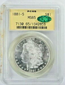 1881-S $1 Morgan Silver Dollar PCGS MS65 CAC OGH (1051-2) 99c NO RESERVE