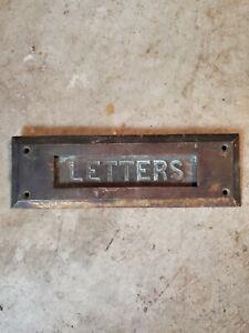 """Vintage Metal Mail Letter Slot """"LETTERS"""""""