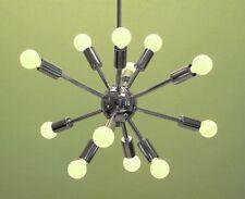 Mid Century Chrome Nickel Finish Atomic Sputnik Chandelier light fixture 12Light