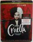 Disney Cruella (4K UHD + Blu-ray + Digital + Slipcover, New & Sealed)