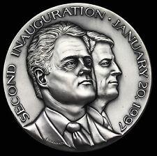 1997 Bill Clinton Al Gore Official Inauguration Silver Medal Medallic Art Co.