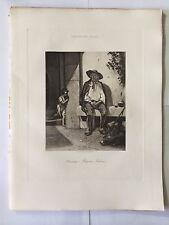 GRAVURE HELIOGRAVURE GEORGES PETIT 1904 DECAMPS PAYSAN ITALIEN
