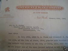 1924 American Cigar Company New York NYC Letter Head
