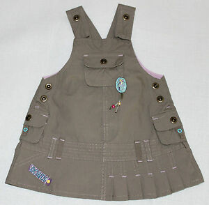 BONDI  Baby Trägerkleid / Kinderkleid,ärmellos, mit Motiv,Baumwolle,khaki, Gr.62