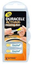 Duracell Activair Hearing Aid Batteries Size 10 (40) With FREE Battery Caddie