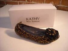 Kathy Van Zeeland Cody Leopard Flower Flats 8 New
