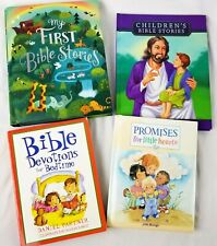 Childrens Bible Stories Books Bedtime Devotions Religious Christian Lot of 4