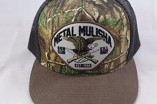 Metal Mulisha Snapback Hat Cap mesh camo NWOT