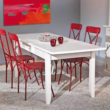 Tisch Esstisch Küchentisch Weiß Matt Massivholz ausziehbar