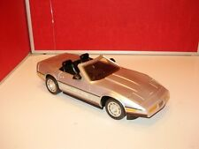C4 CORVETTE SILVER CONVERTIBLE REMOTE CONTROL CAR with WORKING FLIP-UP LIGHTS