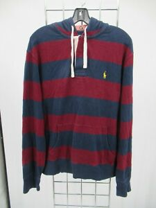 K0049 Polo Ralph Lauren Men's Pull-Over  Hoodie Sweatshirt Size L