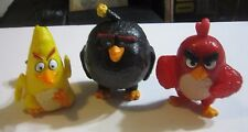 ANGRY BIRDS TOY LOT Rovio Red, Yellow And Black Video Game Birds ACTION FIGURES